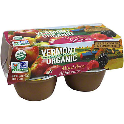 Vermont Village Cannery Organic Applesauce Organic Mixed Berry 4 PK,4.00 ea