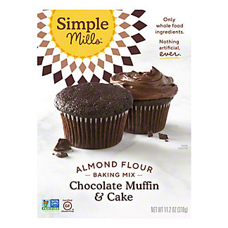 Simple Mills Chocolate Muffin and Cake Almond Flour Mix, 10.4 oz