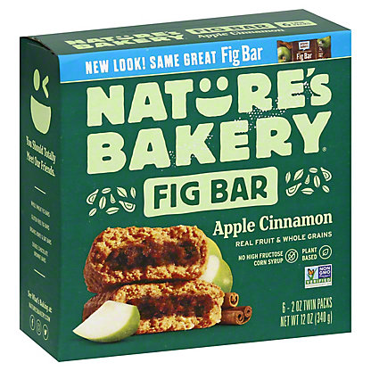 Nature's Bakery Whole Wheat Apple Cinnamon Fig Bar, 6 ct