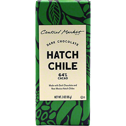 Central Market Hatch Chile Dark Chocolate Bar, 3 oz