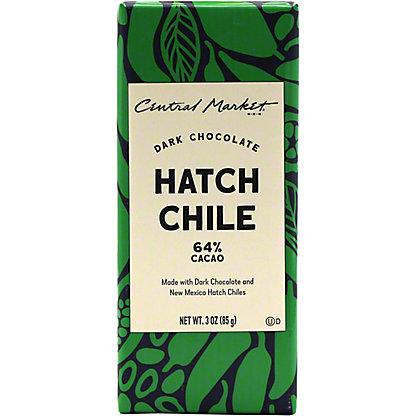 Central Market Hatch Chile Dark Chocolate Bar, 3 oz