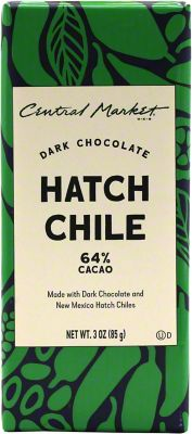 Central Market Hatch Chile Dark Chocolate Bar 3 OZ