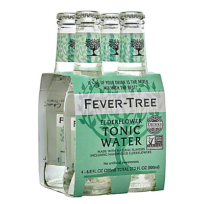 Fever Tree Elderflower Tonic Water,4 - 6.8oz Bottles