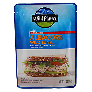 Wild Planet Albacore Wild Tuna - No Salt Added,3.00 'oz'