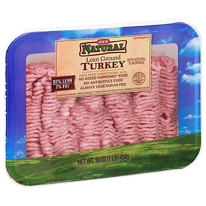 H-E-B Natural Lean Ground Turkey, 16 oz