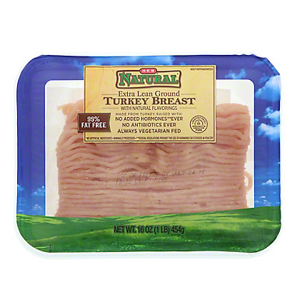 H-E-B Ground Turkey Extra Lean 97%, 16 oz