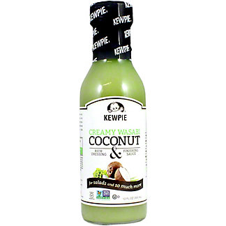 Kewpie Creamy Wasabi Coconut Dressing & Finishing Sauce, 12 OZ