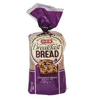 H-E-B Cinnamon Raisin Breakfast Bread, 20 oz