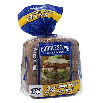 Cobblestone Bread Co. 24 Whole Grain & Seeds Bread, Made With Honey,18 OZ