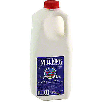 MILL KING Mill King Whole Milk Half Gallon, 0.5GL