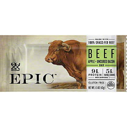 EPIC Beef Apple Bacon Bar, 1.5 oz