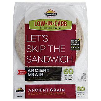 Tumaros Low-In-Carb Ancient Grain Wrap, 8 ct