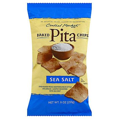 Central Market Sea Salt Baked Pita Chips, 9 oz