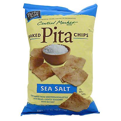 Central Market Baked Sea Salt Pita Chips, 14 oz