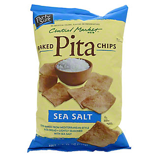 Central Market Baked Sea Salt Pita Chips, 14 oz