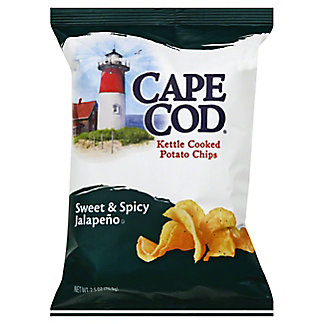 Cape Cod Kettle Cooked Potato Chips Sweet and Spicy Jalapeno, 2.5 oz