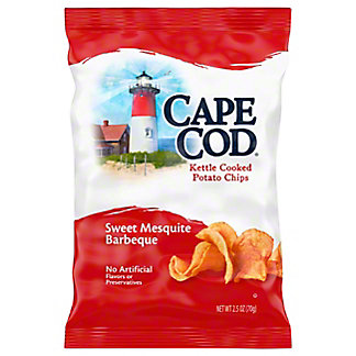 Cape Cod Kettle Cooked Potato Chips Sweet Mesquite Barbeque,2.5OZ