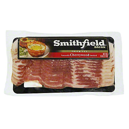 Smithfield Thick Cut Cherrywood Smoked Bacon, 16 oz