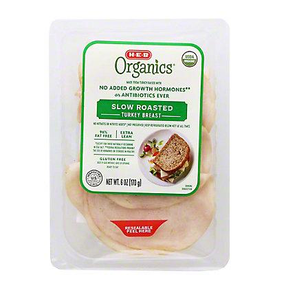 H-E-B Organics Oven Roasted Turkey Breast Slices,6 OZ