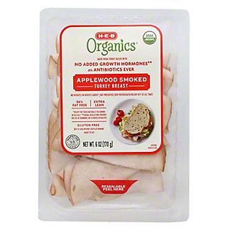 H-E-B Organics Applewood Smoked Turkey Breast,6 OZ