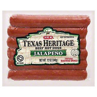 H-E-B Texas Heritage Beef Jalapeno Hot Dog,12 OZ