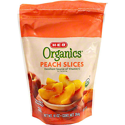 H-E-B Organics Frozen Peach Slices,10 oz