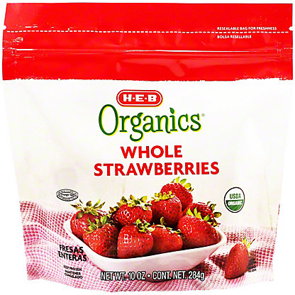 H-E-B Organics Frozen Whole Strawberries,10 oz