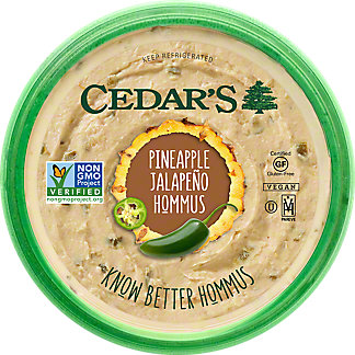 Cedars Pineapple Jalapeno Hommus, 8 oz