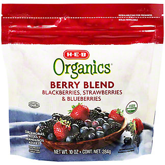 H-E-B Organics Frozen Berry Blend,10 oz
