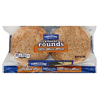 Cobblestone Bread Co. Flatbread Rounds, 100% Whole Wheat, 12 oz