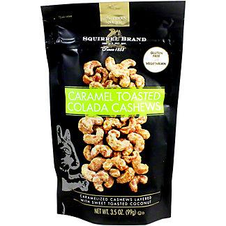 Squirrel Brand Artisan Nuts Caramel Toasted Colada Cashews, 3.5 oz