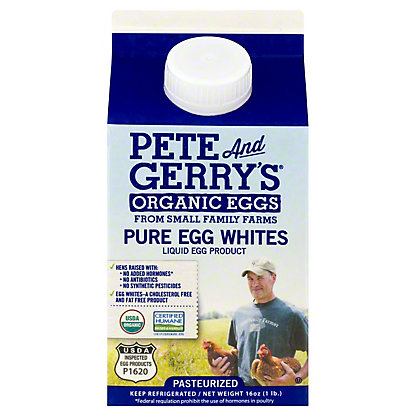 Pete & Gerry's Organic Egg White Liquid, 16 oz