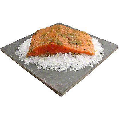 Central Market Roasted Hatch Chile Marinated Salmon Fillet, Lb