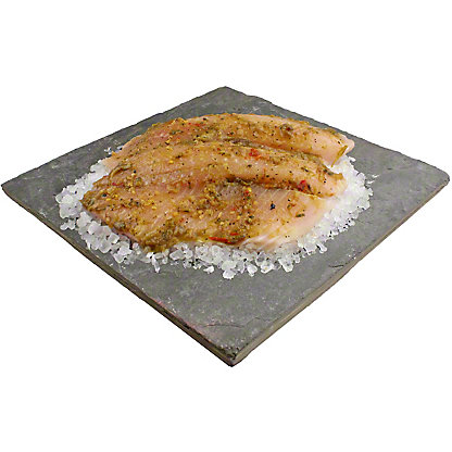 Central Market Roasted Hatch Chlie Marinated Tilapia Fillet, Lb