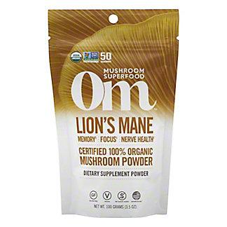 Om Mushroom Lions Mane Mushroom Superfood Powder, 100 G