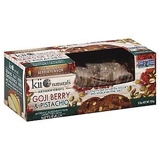 Kii Naturals Goji Berry Pistachio Crisps, 5.3 oz