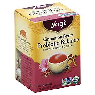 Yogi Cinnamon Berry Probiotic Balance Tea Bags, 16 ct