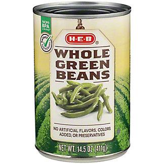 H-E-B Select Ingredients Whole Green Beans, 14.5 oz