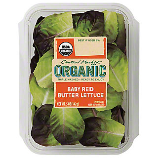 Central Market Organic Baby Red Butter Lettuce, 5 oz