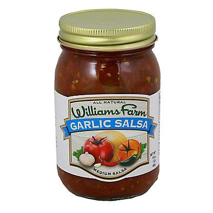 Williams Farm Garlic Salsa Medium, 16 OZ