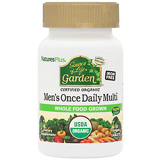 Nature's Plus Source of Life Organic Men's Daily Multivitamin Tablets, 30 ct