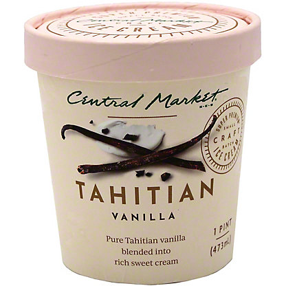 Central Market Tahitian Vanilla Ice Cream, 1 pt