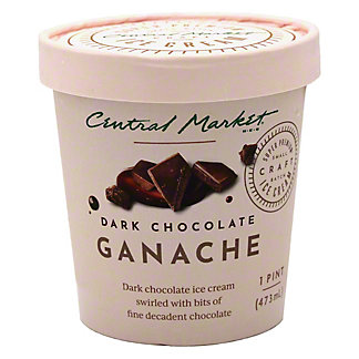 Central Market Dark Chocolate Ganache Ice Cream, 1 pt