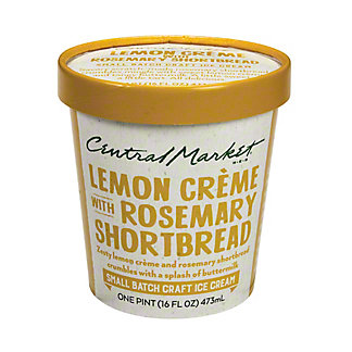 Central Market Lemon Creme Rosemary Shortbread Crumble Ice Cream, 1 pt