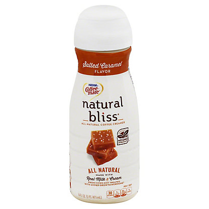 Coffee-Mate Natural Bliss Salted Caramel Coffee Creamer,16 oz
