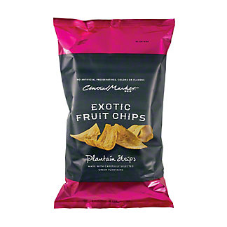 Central Market Exotic Fruit Chips Plantain Strips, 8 oz