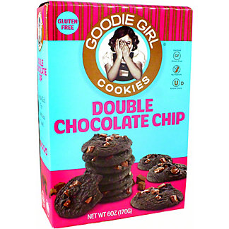 Goodie Girl Cookies Gluten Free Double Chocolate Chip Cookies, 6 oz
