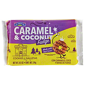 Hill Country Fare Caramel and Coconut Fudge Cookies, 8.5 oz