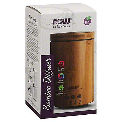 NOW Solutions Real Bamboo Ultrasonic Oil Diffuser, EACH