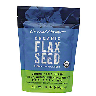 Central Market Organic Flaxseed Dietary Supplement,16 OZ